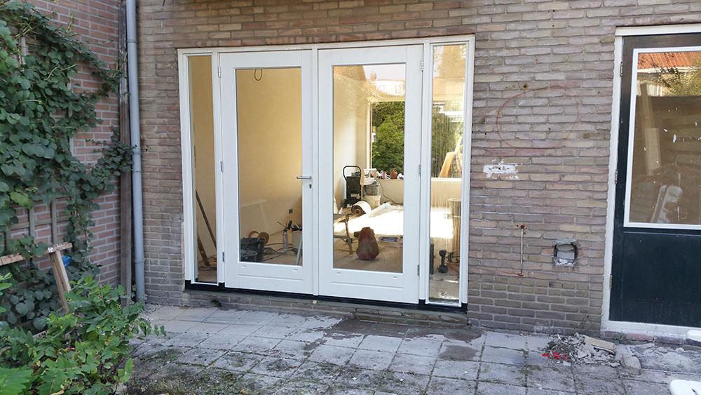 Kozijn met openslaande deuren in loosdrecht u bouwbedrijf sterk